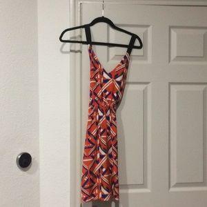 Vibrant geometric pattern dress
